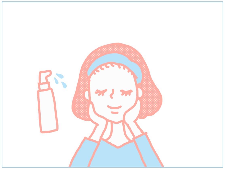 ララルーチュの使い方・美容液を顔全体につける